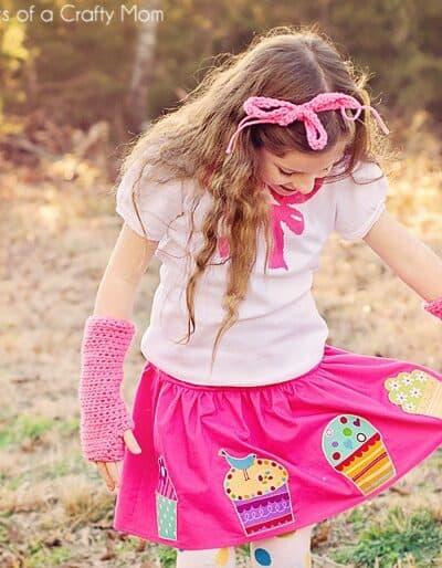 Cupcake Birthday Skirt Tutorial