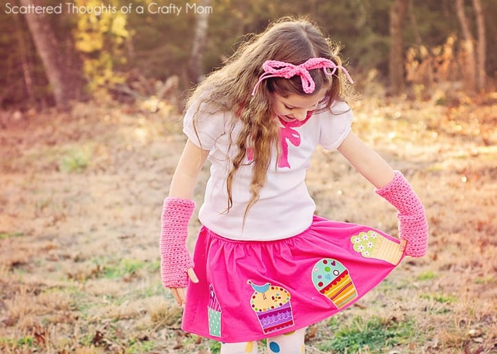 Cupcake Birthday Skirt Tutorial