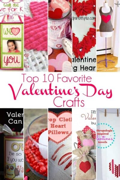 Top 10 Favorite Easy Valentine's Day Crafts (+ big announcement about tomorrow's Inspiration Monday Party)