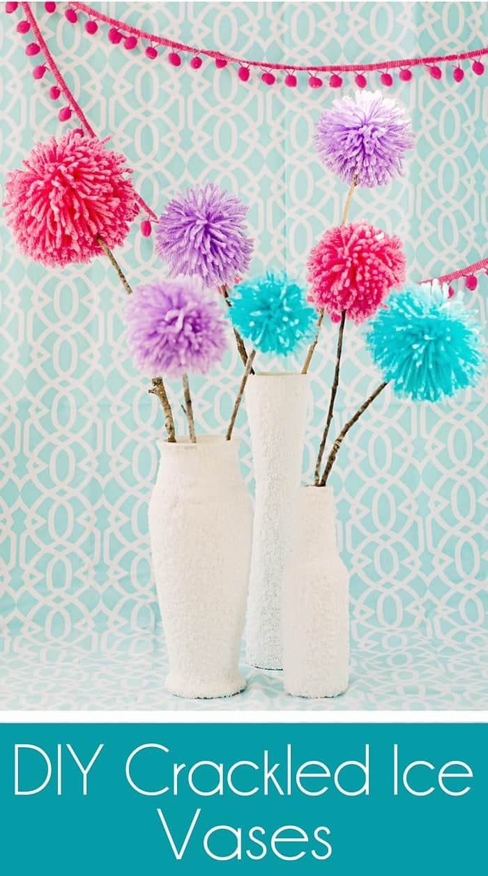 diy crackled ice vase