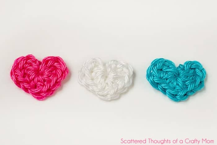 Tiny Crochet Hearts W Pattern Scattered Thoughts Of A Crafty