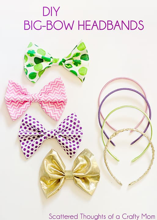 Make your own Big Bow Headbands with this super simple tutorial! #hairbows