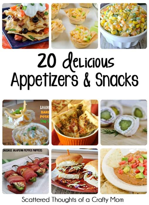 20 Delicious Appetizers and Snacks