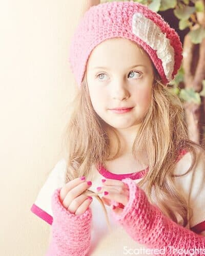 Slouchy Crochet Beanie and Arm Warmers