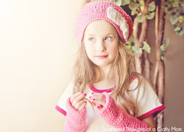 I used this pattern for the hat  Meladora s Squiggly Slouch Hat. I love the  technique used. It s called front post double crochet and ... 3c4e2ed795a