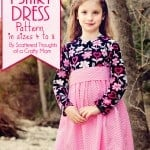 Girl's Twirly T-Shirt Dress Pattern and Tutorial (pattern sizes 4 to 8)