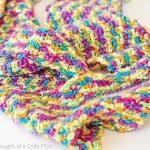 Rainbow Bright Crocheted Infinity Scarf