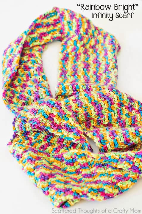 Simple Double Crochet Infinity Scarf- super simple beginner project.