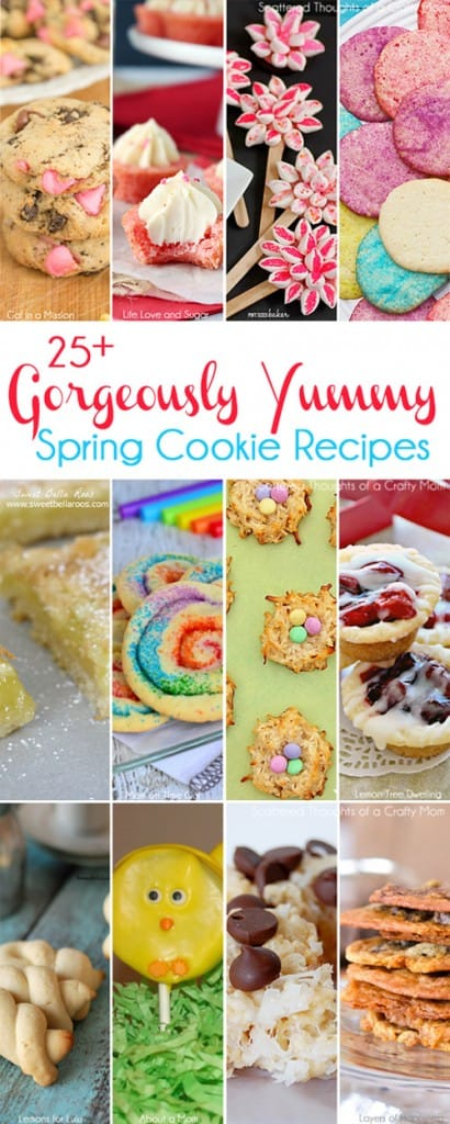 25+ Gorgeous and Yummy Cookie Recipes for Spring #Cookies #spring
