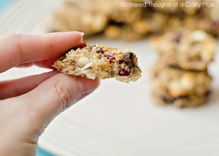 Make these amazing and healthy Banana Oatmeal Cookies (no butter sugar flour or dairy- unless you add it in.)