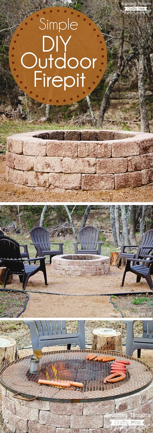 How To Build A Firepit: Spruce Up Your Backyard W/ This Easy DIY Outdoor