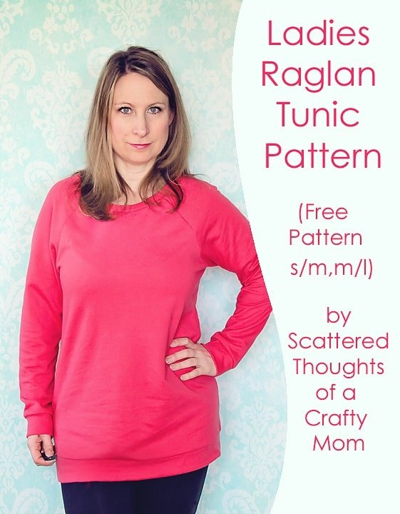 Sew a ladies Raglan top with this free pattern!