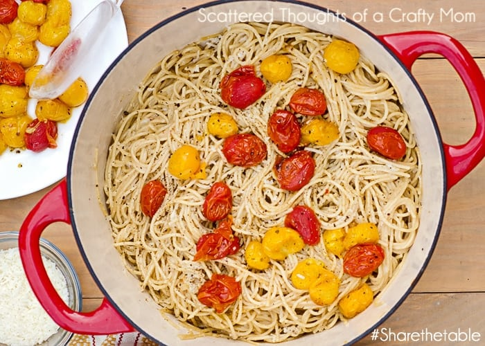 Simple Pasta Recipe with Roasted Cherry Tomatoes (Cacio e Pepe)