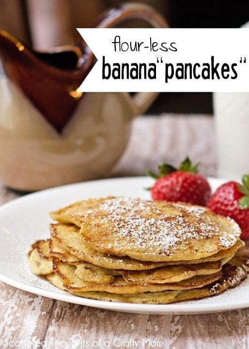 Flourless Banana Pancakes (Gluten freen no refined sugar - 3 ingredients)