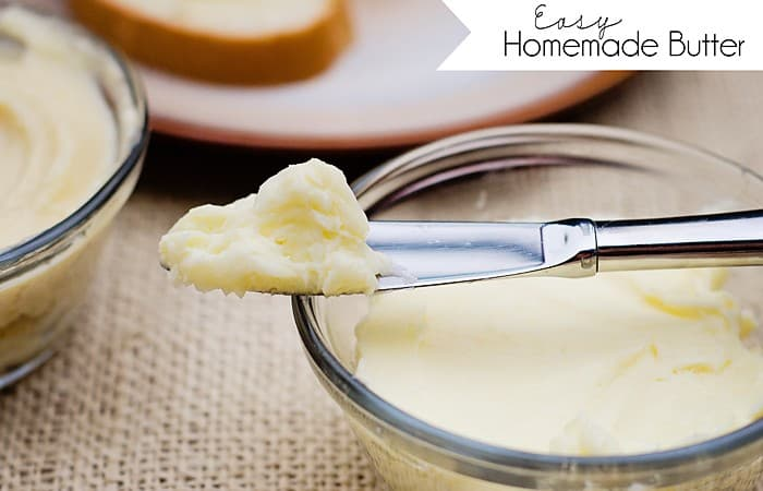 How to Make Homemade Butter (plus a review of the Hamilton Beach Stand Mixer and giveaway)