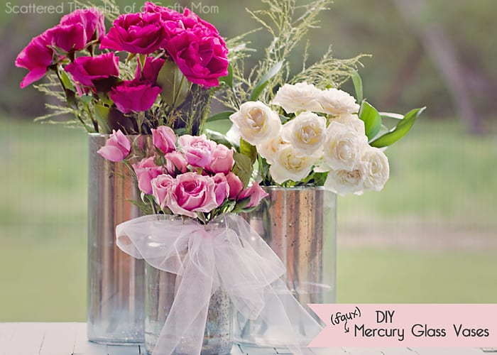How to make faux mercury glass vases