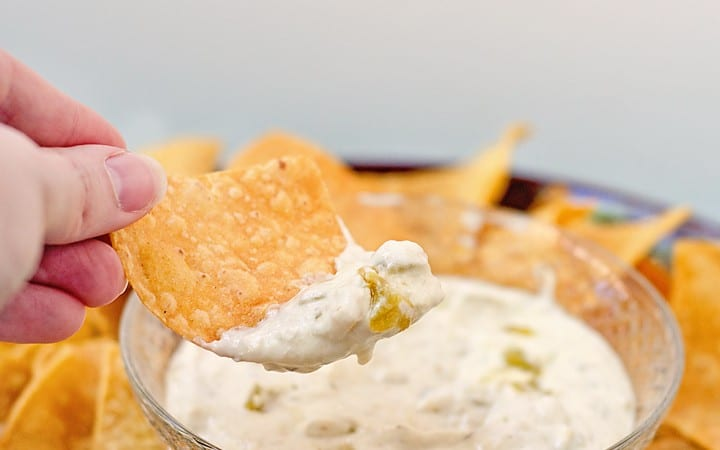 Creamy Green Chile Dip (plus a bunch more Tex-Mex Inspired Dishes for Cinco de Mayo)