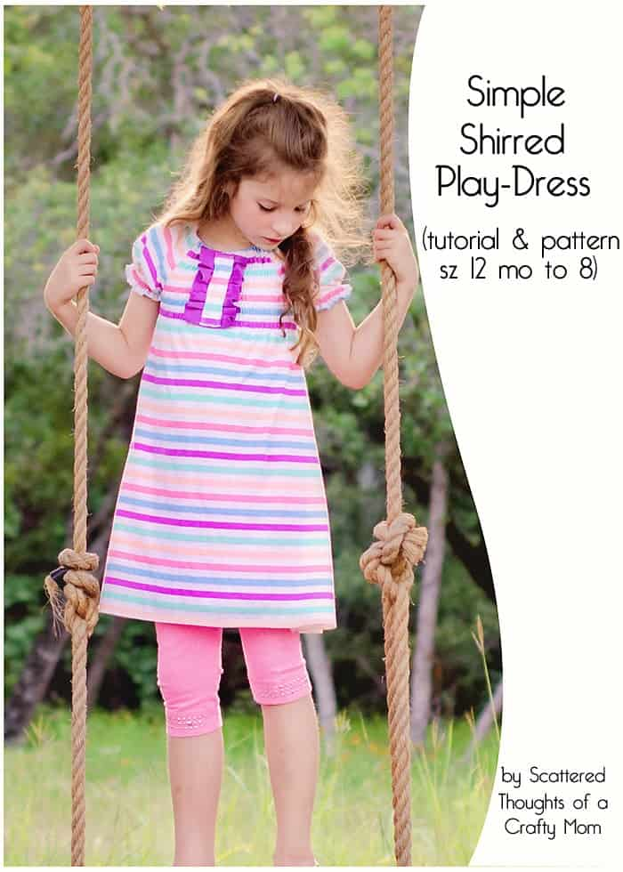 Easy to sew, free play-dress pattern and tutorial. (size 12 month to 10)