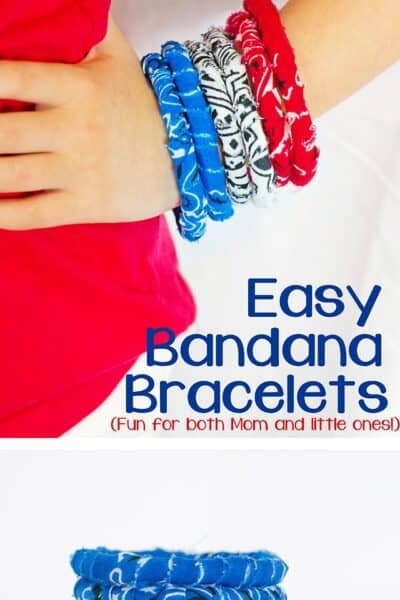 No Sew Simple Fabric Bracelet Tutorial (w/ Banadanas)