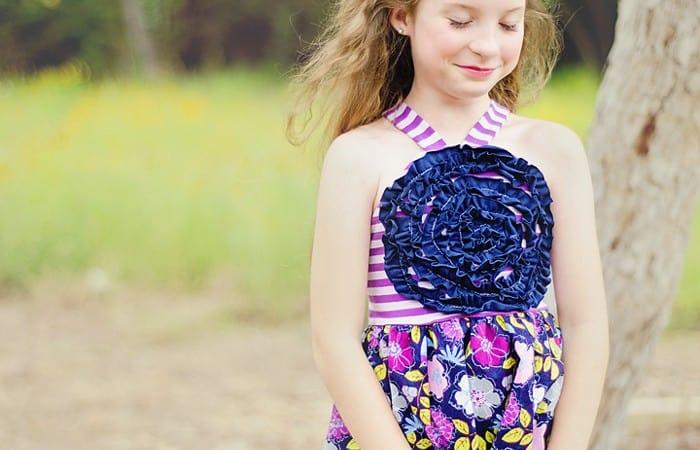 Ruffled Flower Sundress – Girl's Halter Style Tutorial and Free Pattern