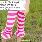 Free Girl's Legging Pattern (includes full length legging, flounced capri and shorts)