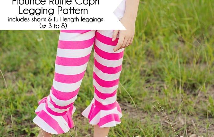 Free Girl's Legging Pattern (includes full length legging, flounced capri and shorts)