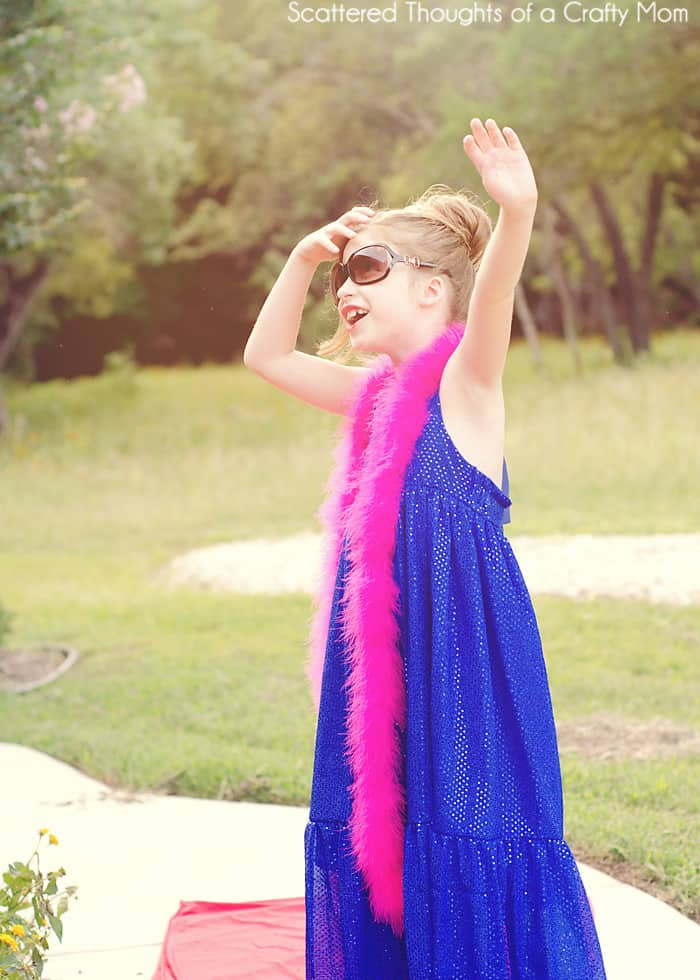 A red carpet worthy dress made with the free Boho Maxi Dress Pattern by Scattered Thoughts of a Crafty Mom.