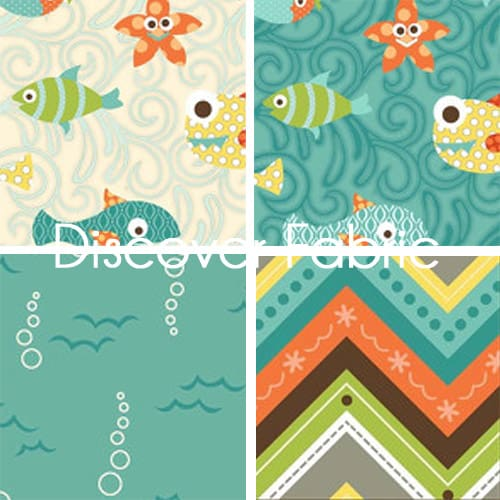 Henry Glass, Here Fishy, Fishy. from Discover Fabric