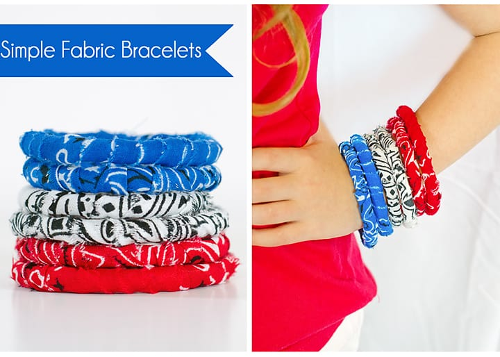 how to make fabric bracelets