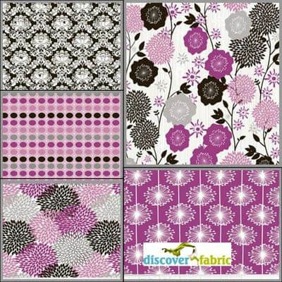 Andrea Victoria Fat Quarter Bundle In Fuschia from Discover Fabric
