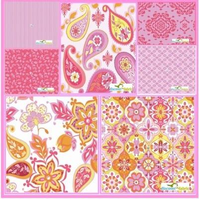 Splendor - Lila Tueller - Riley Blake Designs 7 Piece Fat Quarter Bundle Pink from discover fabric
