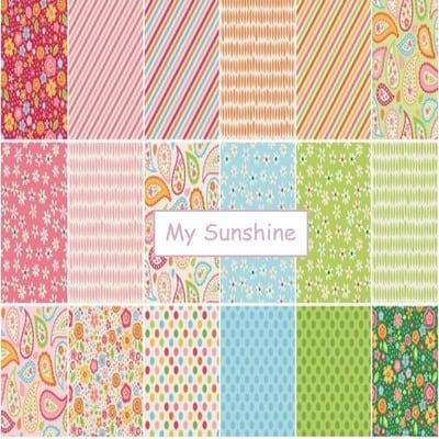 Splendor - Lila Tueller - Riley Blake Designs 7 Piece Fat Quarter Bundle Pink from discover fabrics