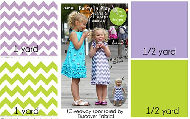 Riley Blake Chevron bundle and pattern giveaway from Discover Fabric