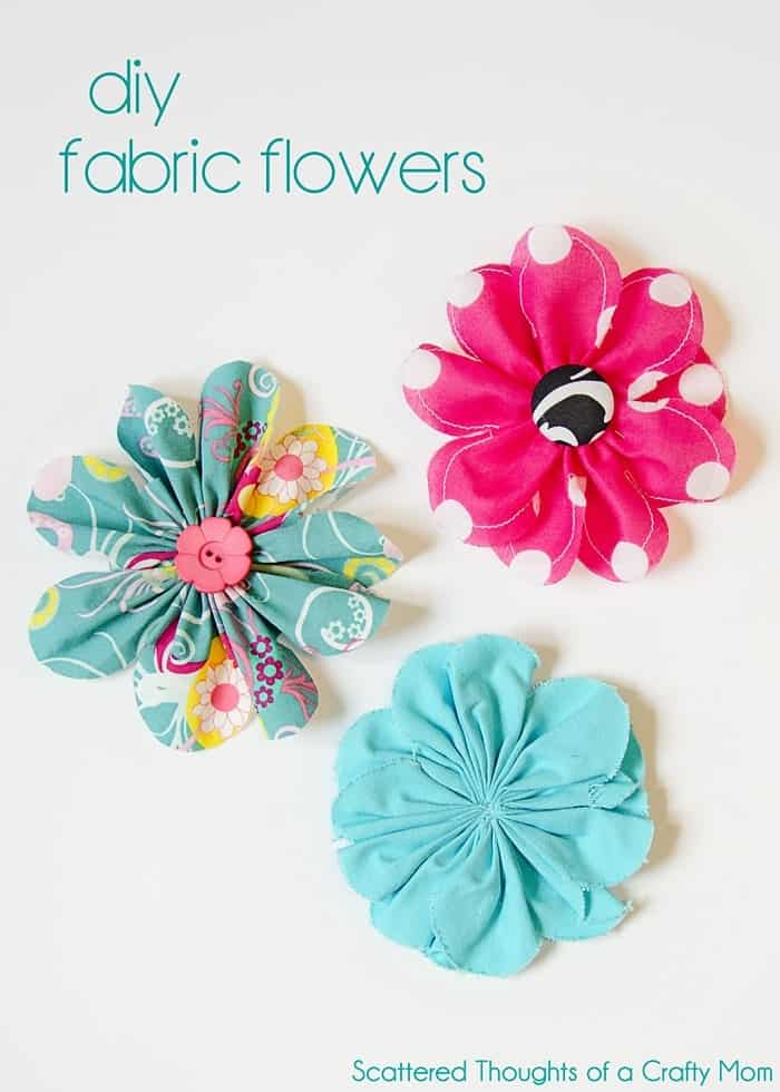 Oh Sew Easy 10 Minute Fabric Flower Tutorial No Sewing Machine Required 4