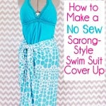 No Sew, Two Minute Swim Suit Cover Up