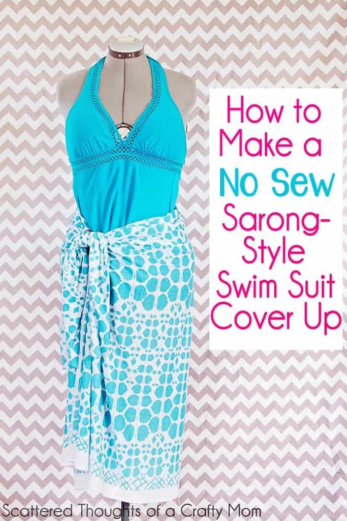 How To Make A No Sew Swimsuit Cover Up In Two Minutes Flat