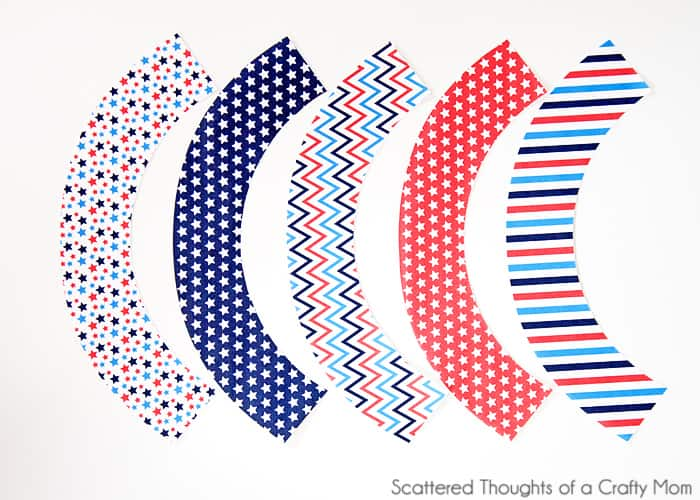 patriotic free printable cupcake wrappers