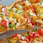 Easy Southwest Chicken Pizza