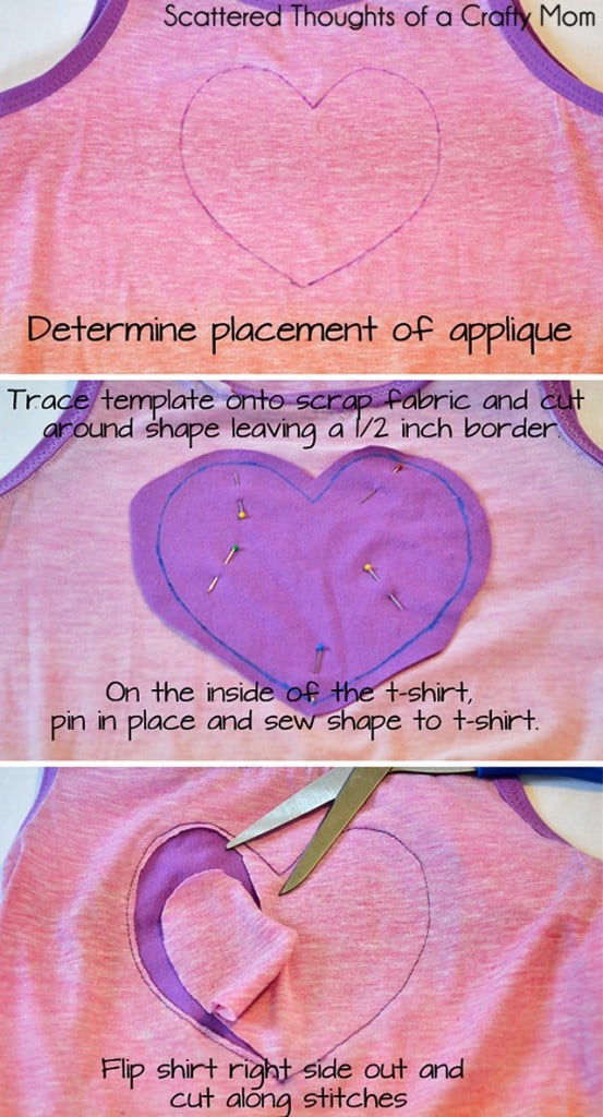 how to do reverse applique