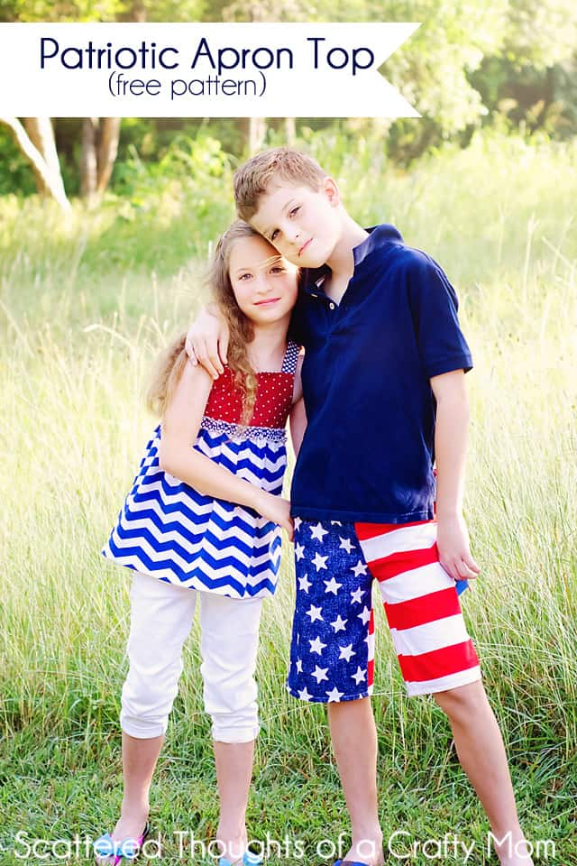 Sewing inspiration for the 4th of July. (plus a free pattern link.) #4thofjuly #patriotic