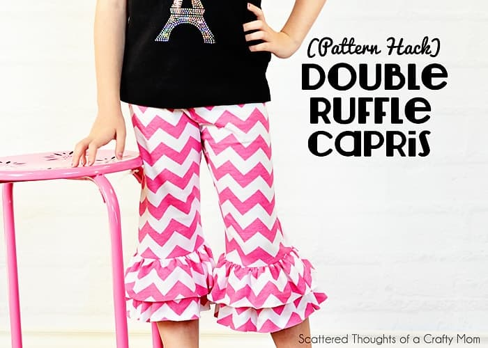 Pattern Hack: Double Ruffle Capris (tutorial and pattern)