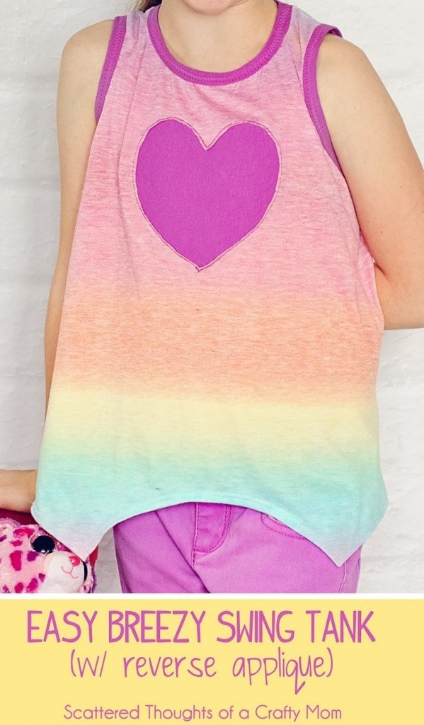 Easy Breezy Summer Swing Tank (with reversible applique tutorial)