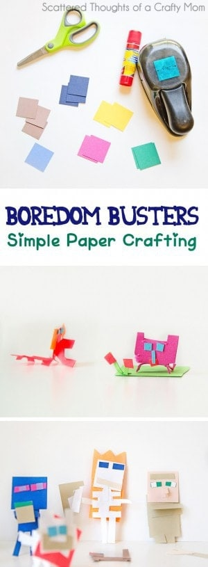 Fun kid craft project, keep the creativity flowing and boredom away!
