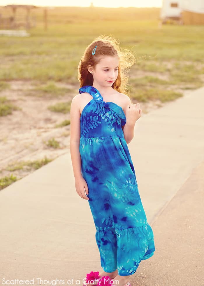 girls one shoulder maxi dress