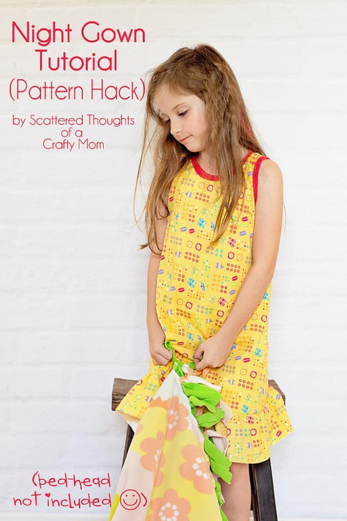 Use this free pdf pattern and tutorial to make a nightgown for your little one.