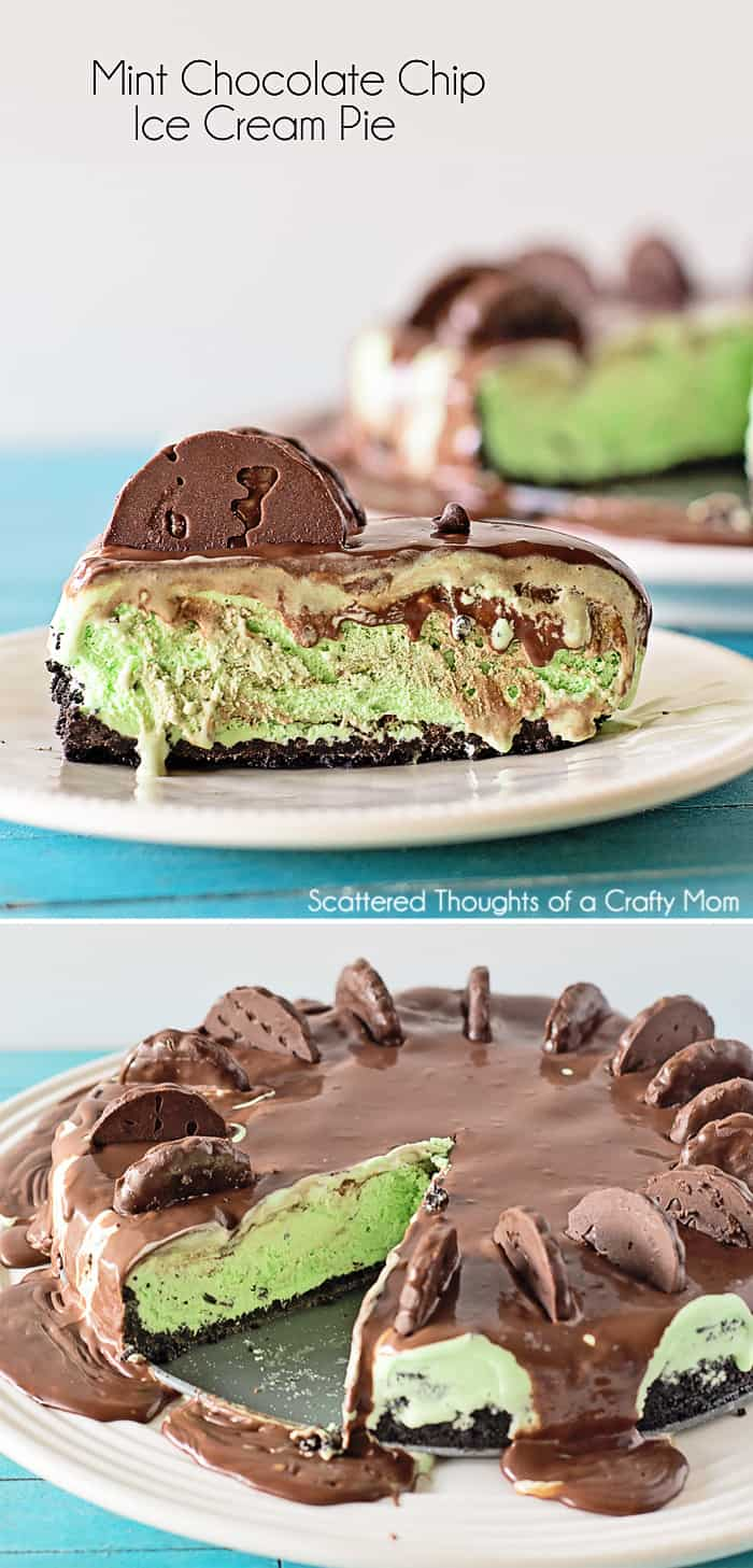 Mint Chocolate Chip Ice Cream Pie Recipe