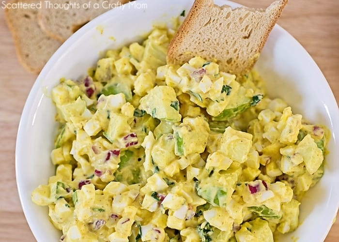 Curried Egg Salad Recipe - Scattered Thoughts of a Crafty Mom