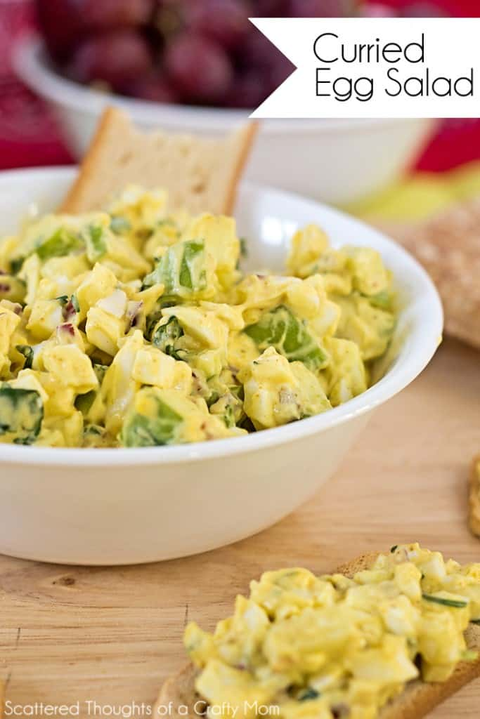 Ready to kick your Egg Salad Recipe up a notch? If you are a fan of curry, this recipe is a MUST try!