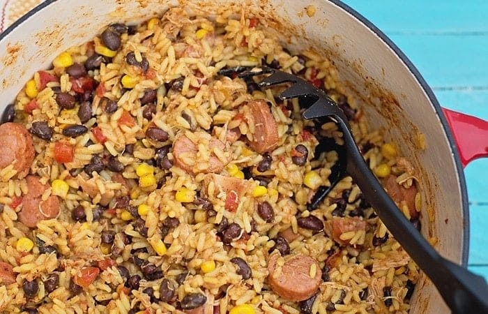 Quick and Easy: Sausage, Chicken and Black Bean Paella Recipe