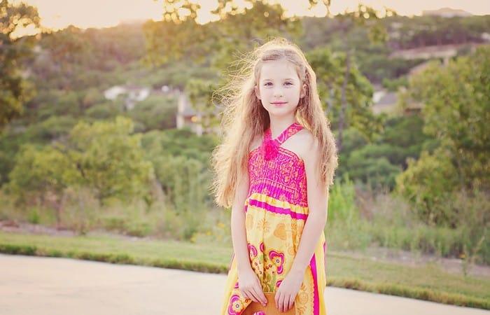 Summer Rose Shirred Halter Dress Tutorial- size 2 to 10